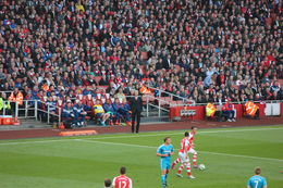 Arsene Wenger not looking too impressed with his side's performance so far!, Bandit - May 2015