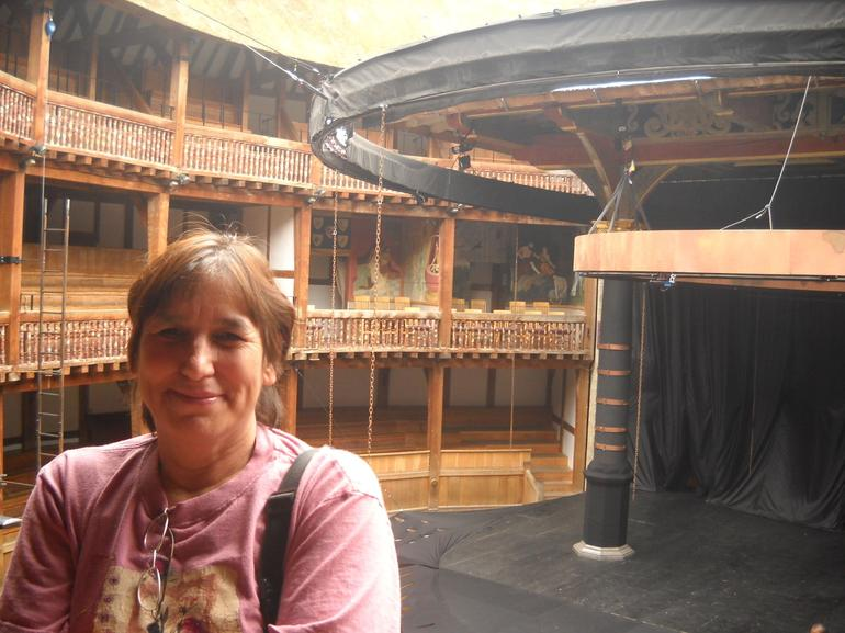 Deb at the GlobeTheater - London