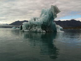 One of the many amazing icebergs on the Jokulsarlon glacial lagoon, as viewed from the boat. , Marie W - July 2011