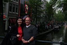 standing on a bridge on the Red Light Tour of Amsterdam - June 2008