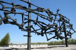 A memorial to the people who died on the fence., Mark B - April 2009