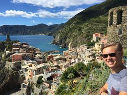 Ben enjoying the hike in Cinque Terre , Mary N - October 2015