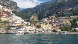 View of Positano leaving the main beach , Inna B - May 2015