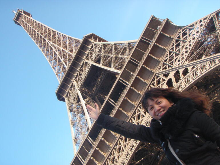 Stretching for the top of Eiffel! - Paris