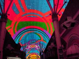Under the Flightlinz on Fremont Street , Sarah S - December 2011