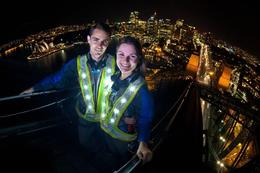 Glowing vests for the Sydney BridgeClimb during the VIVID festival! - April 2014