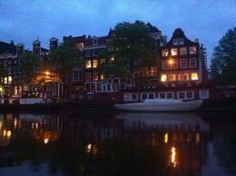A beautiful way to admire the illuminated canals of Amsterdam alas my iphone photos do not do the views justice! - September 2011