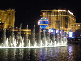 Bellagio Fountains, charley - August 2011