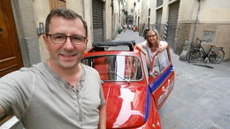 We Start in Florence our mixed tour, Vespa and Fiat , Volker B - June 2016