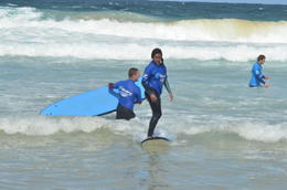 Surfing in tame waves, makes it easy and comfortable to learn how to actually stand up , Oddoutlet - September 2011