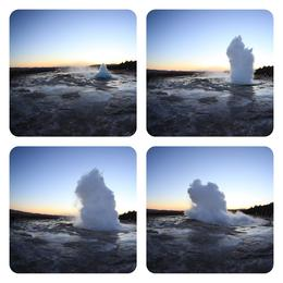 This is the geysir as it erupts. , Clare F - November 2012