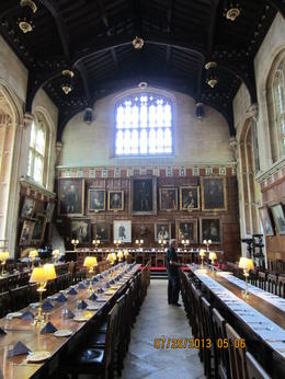 This is the great hall at Oxford. Was used as the great hall in the Harry Ptter movies. , Nursequinn - August 2013