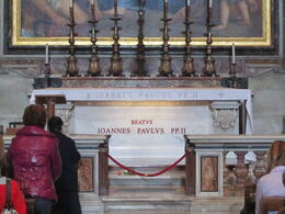 The most recent tomb in the basilica of St Peter's , Elizabeth J - November 2011