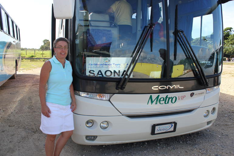Our Bus to and from Saona - Punta Cana