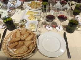 This was our first wine tasting at a villa owned by Italian nobility! One white, two Chianti Classicos, two local honeys, olive oil and bread. , Vera B - August 2016