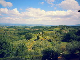 Beautiful view just outside theentrance to San GGimignano , Kayan S - August 2014