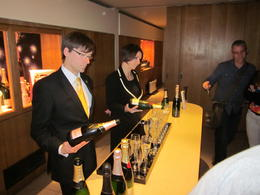 Tasting time at Moet and Chandon! , Steven F - July 2012