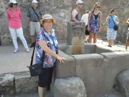 My wife, Edna, near a fountain in Pompeii , JOSE F - July 2013