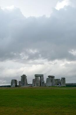 This image takes advantage of a dramatic sky to create an image that illustrates the popular belief that Stonehenge is a massive astronomical calculator that funneled celestial order into the realm ... , Brian C - May 2010