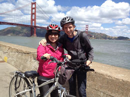 In front of Golden Gate Bridge, Jules & Brock - July 2012