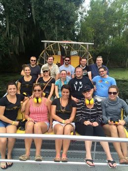 Mid way through the swamp tour with the best tour guide EVER, do this tour, you will NOT regret it, the highlight of our trip! , Cynthia K - November 2015