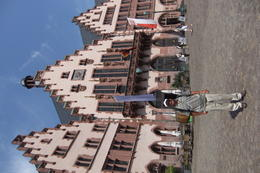Mario in front of the old Town Hall, during the Frankfurt City Tour. , Mario S - July 2014