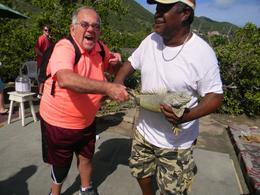 me holding a huge iguana ! AAAAAHHHH! , Ed D - December 2016