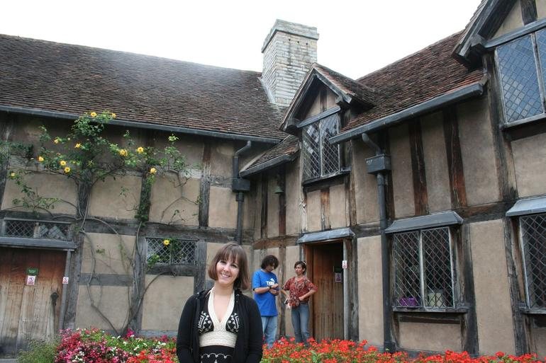 A tourist at Shakespeare's Home - England