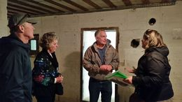 Ann-Sophia, our guide, explaining about the WWII bunkers to Jim Houghton and Connie Nelson, who's father was part of the D-Day operation and Connie's husband Bill. , Judy H - October 2015