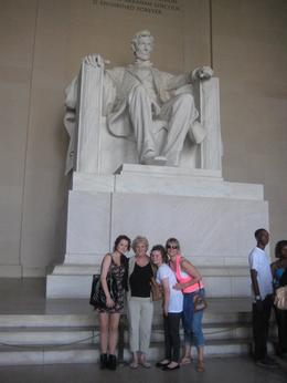 3 generations of my family below the Lincoln memorial in New York. This was a very emotional moment for my my mum who had never dreamed she would make it here., Jane E - June 2010