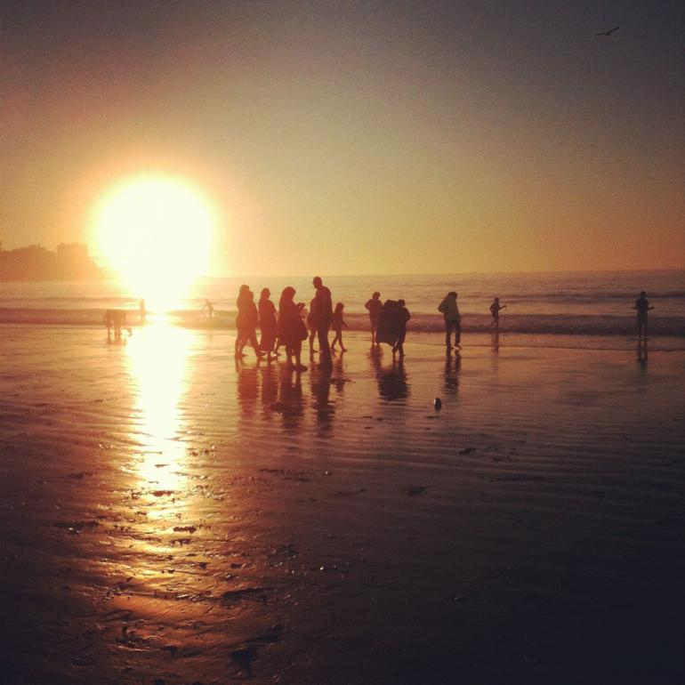 Monster sunset from La Jolla beach - San Diego