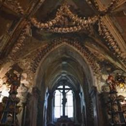 Bone Chapel. There is no chandelier at the moment, but it's still stunning and impressive...and a little creepy. , Kathryn H - September 2016