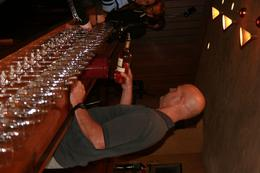 Sutter Home's wine expert prepares welcome samples for eager clients., Gordon C - April 2010