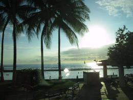 This picture was taken of Waikiki Beach from the tour bus. It was such a beautiful sunset. , William B - October 2012