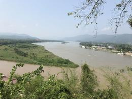 Photo taken from Thailand, Laos is on the right and Myanmar is on the left. , Christina R - June 2017