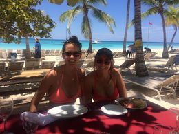 Lunch at Saona Island, Katiemo - April 2016