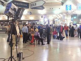 We are lucky to see the tv crew filming a new Turkish series in the Airport , SAEED A - November 2012
