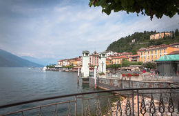 Lake Como on a hazy Summers day with a view of Bellagio , Elizabeth C - August 2015