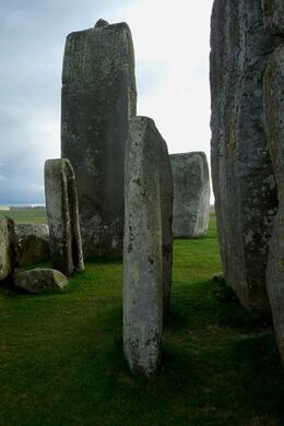Although far smaller than the larger stones the human scaled bluestones have a powerful and anthropomorphic presence that adds elegance and mystery when approached inside the stone circle., Brian C - May 2010