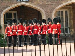 Our guide placed us right outside St. James Palace where we could watch the Guard's inspection before the march to the palace. , Benjamin N - October 2016