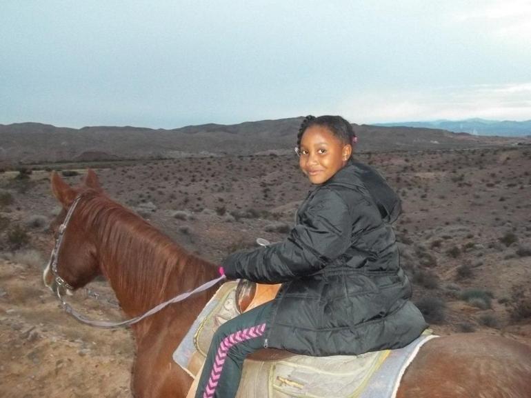 Jadyn on her horse - Las Vegas