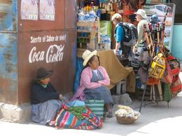 Local women selling food and arts and crafts in Ollantaytambo. This is near the train station where you catch the train to Machu Picchu., Bandit - December 2010