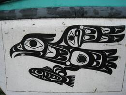 Design on a boat on the beach, Skootre - October 2010