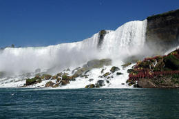 Great view of the falls from the boat, Jules & Brock - July 2012
