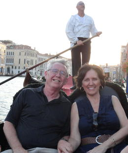 Mike and Judy on the gondola in Venice. Wow, what a great time! , Judy & Mike - September 2011