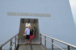 Graham and Jean at the Pearl Harbour tour , Graham R - October 2013
