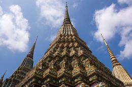 Porcelain pagodas in Wat Pho, Bangkok, Thailand - June 2011