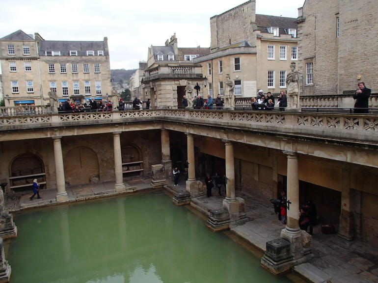 Roman Baths in the town of Bath - London