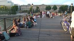 people gather on bridges for wine & sunset, Ana M L - August 2010