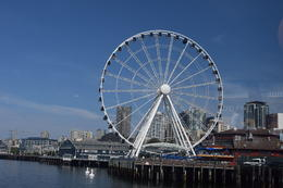 The Great Wheel of Seattle on Pier 57 seen from the Argosy Harbour Tour , Tarnya R - August 2014